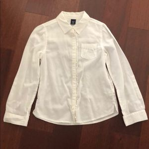 Gap White Button Down size M (8)